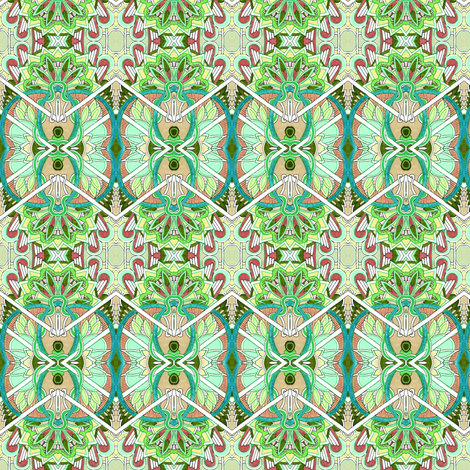 Tropical Zig Zag fabric by edsel2084 on Spoonflower - custom fabric