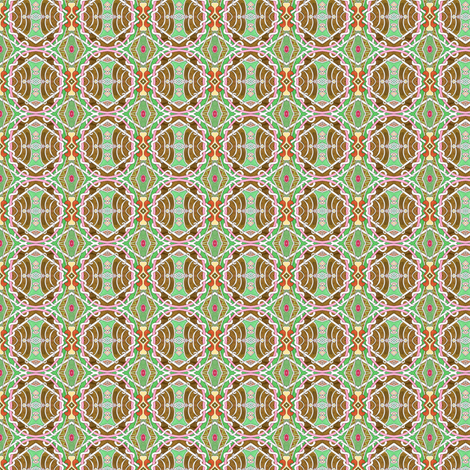 Old Fashioned Calico in Apple Green fabric by edsel2084 on Spoonflower - custom fabric