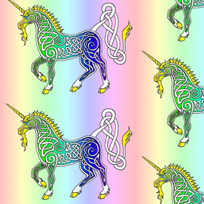 Rainbow Celtic Unicorn