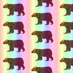 Rainbow Celtic Bear small