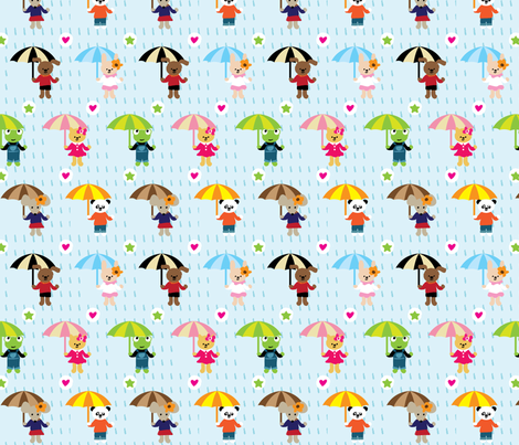 Rainny day fabric by bmac on Spoonflower - custom fabric