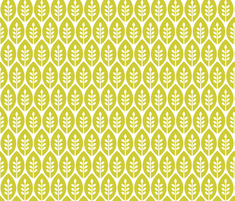 Ditsy-FlowerGarden_GreenLeaf fabric by ttoz on Spoonflower - custom fabric