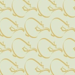 Curlcat pattern  - sm - ltgreen