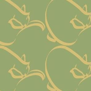 Curlcat Pattern - med - lt-olive