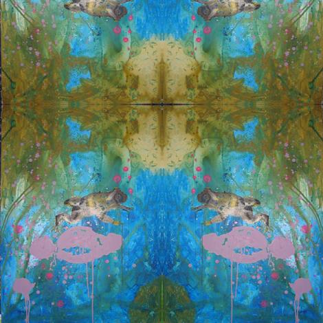 grenouille fabric by nathaliesal© on Spoonflower - custom fabric