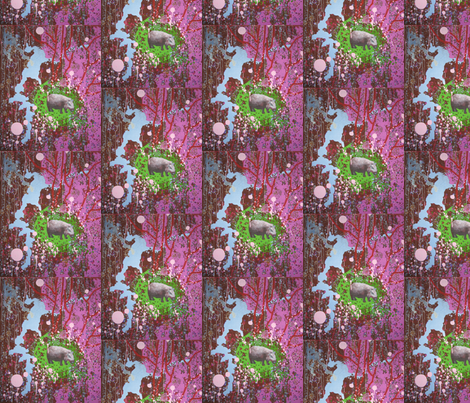 rhino fabric by nathaliesal© on Spoonflower - custom fabric