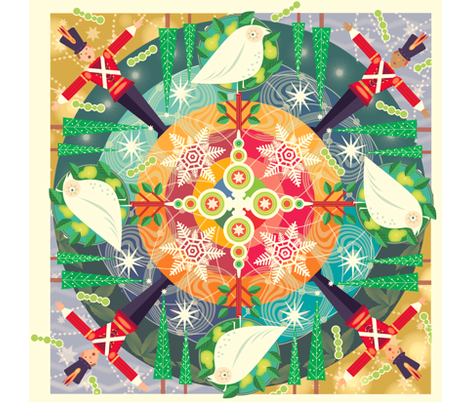 spoonflower_mandala_holiday_2011 fabric by margart on Spoonflower - custom fabric