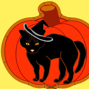 PumpkinBlackCatPillow-fixed