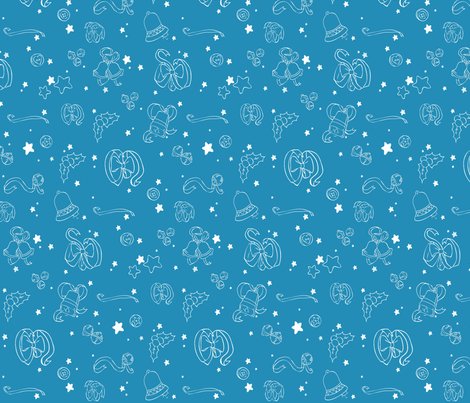 Blue Ribbon fabric by threeyellowplums on Spoonflower - custom fabric