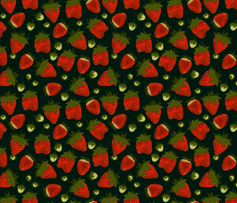 Strawberry fabric by marlene_pixley on Spoonflower - custom fabric