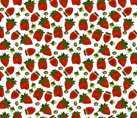 Strawberry 2 fabric by marlene_pixley on Spoonflower - custom fabric
