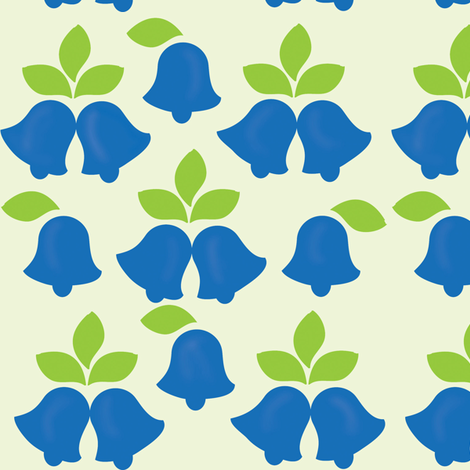bluebells fabric by kiwicuties on Spoonflower - custom fabric