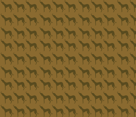 Rhodesian Ridgeback & Bird-earthy palette fabric by cnarducci on Spoonflower - custom fabric