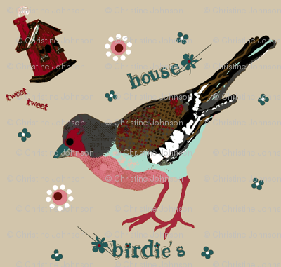 birdie's house  flour sack