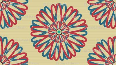 Flower with Turqoiuse Centre