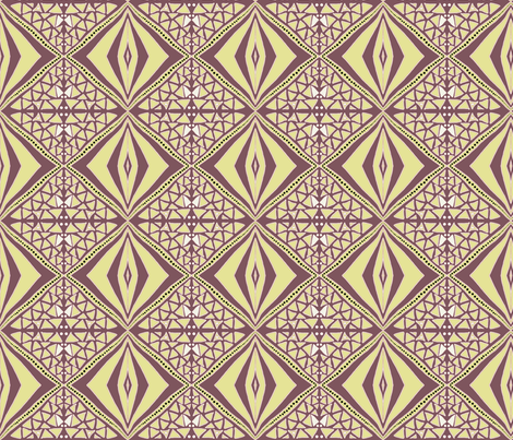 Earthy diamonds light fabric by su_g on Spoonflower - custom fabric