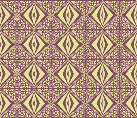 Earthy diamonds dark fabric by su_g on Spoonflower - custom fabric