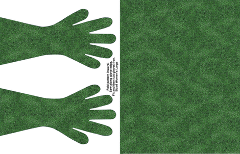 Green Spec Gloves fabric by ladyfayne on Spoonflower - custom fabric