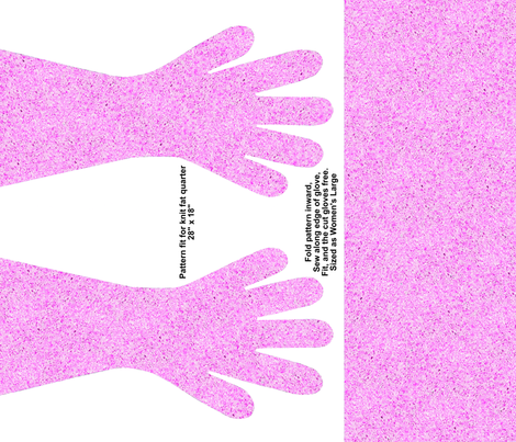 Pink Spec Gloves fabric by ladyfayne on Spoonflower - custom fabric
