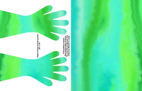 Green Turbulence Gloves fabric by ladyfayne on Spoonflower - custom fabric