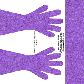 Lavender Specked Gloves
