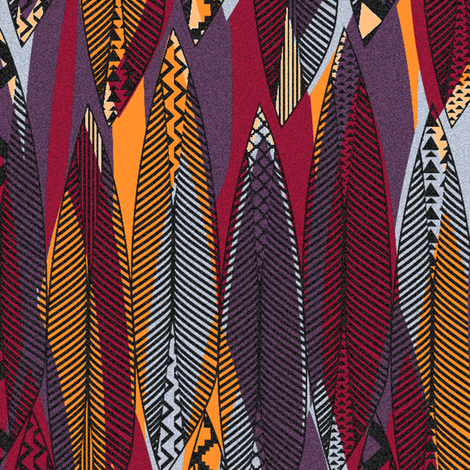 Aztec Feathers fabric by demigoutte on Spoonflower - custom fabric