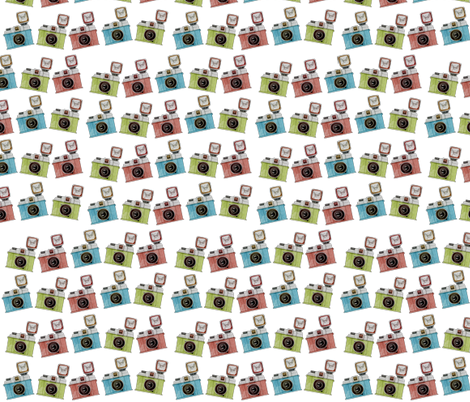 Vintage Camera  fabric by icarpediem on Spoonflower - custom fabric