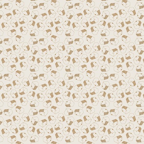 houses brown fabric by brokkoletti on Spoonflower - custom fabric