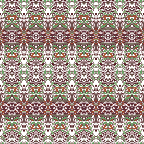 Fine Feathered Art Deco Friends fabric by edsel2084 on Spoonflower - custom fabric