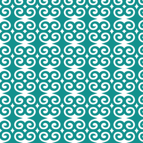 Teal Swirl fabric by patternaholic on Spoonflower - custom fabric