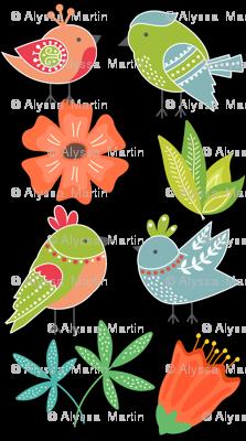 Spring Love Birds