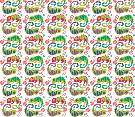 Lizard Love fabric by icarpediem on Spoonflower - custom fabric