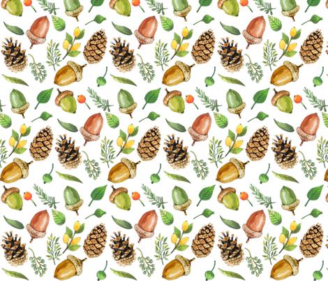 Fall Forest  fabric by icarpediem on Spoonflower - custom fabric