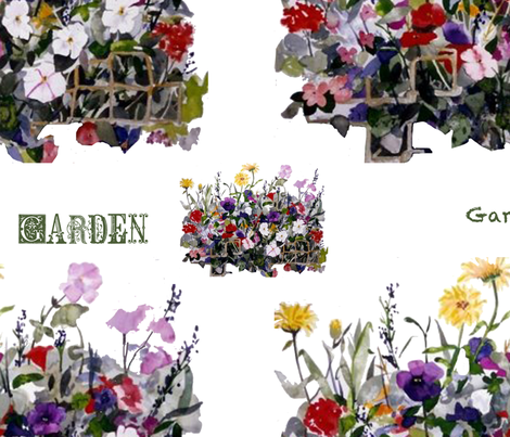 Garden fabric by karenharveycox on Spoonflower - custom fabric