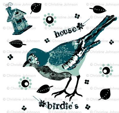 birdie's house teal