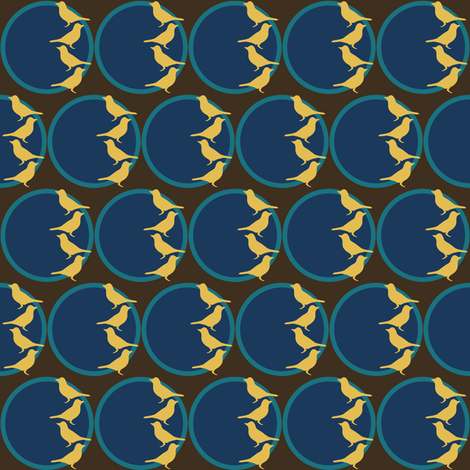 Yellow Birds fabric by cnarducci on Spoonflower - custom fabric
