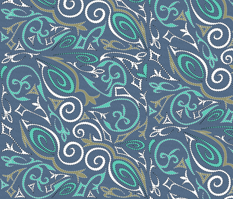tattoo1big Swirling Waters fabric by glimmericks on Spoonflower - custom fabric