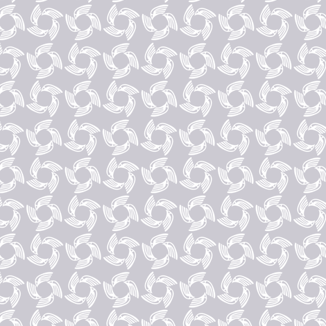 ice falcon fabric by glimmericks on Spoonflower - custom fabric