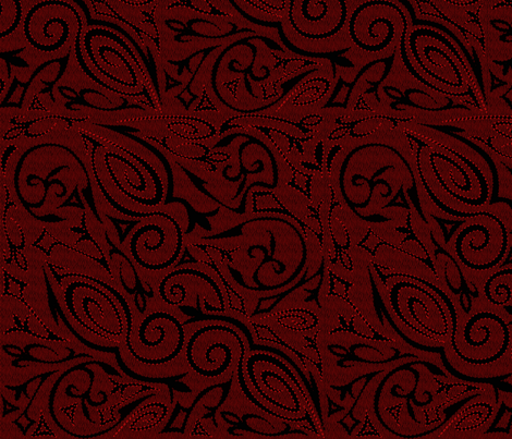 Red Tattoo fabric by glimmericks on Spoonflower - custom fabric