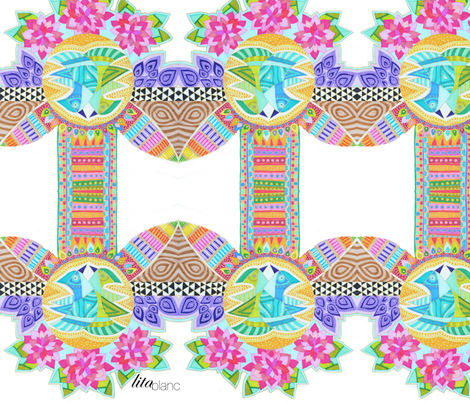 pajaros fabric by lita_blanc on Spoonflower - custom fabric