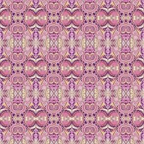Arts and Crafts Era Diamonds in pink