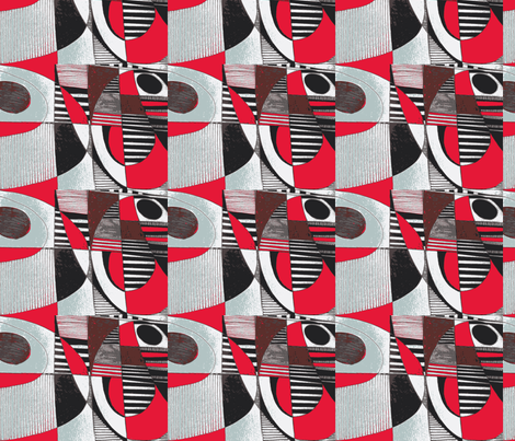_two time red fabric by abstracthands on Spoonflower - custom fabric