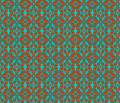 Interlock Teal Circles fabric by joonmoon on Spoonflower - custom fabric