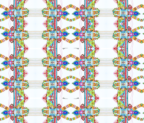Dancing whit Sioux fabric by lita_blanc on Spoonflower - custom fabric