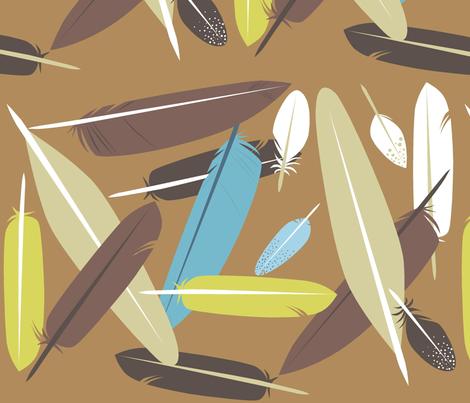 feathered_2 fabric by antoniamanda on Spoonflower - custom fabric
