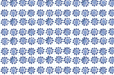 big_blue__flower_quilt fabric by pink_pagoda on Spoonflower - custom fabric