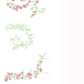 Floral vines with gradient--bubblegum