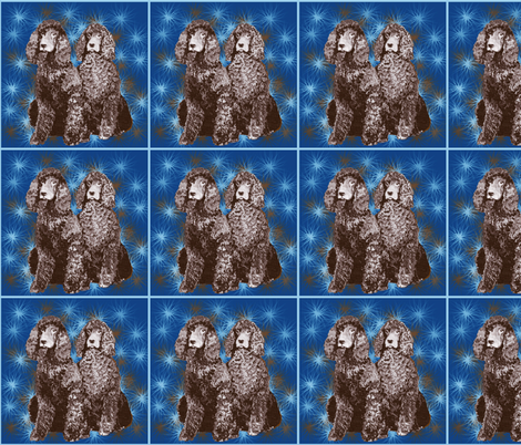 Irish Water Spaniel Stars fabric by dogdaze_ on Spoonflower - custom fabric