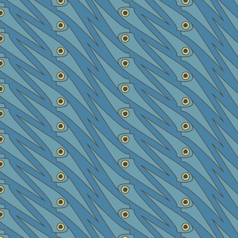Blue Squidoo fabric by david_kent_collections on Spoonflower - custom fabric