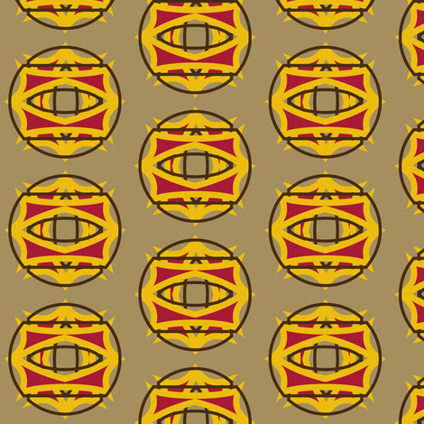 Round Temple (Yellow) fabric by david_kent_collections on Spoonflower - custom fabric